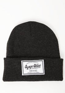 Image of Agape Patch on Charcoal Beanie
