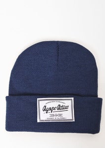 Image of Agape Patch on Navy Beanie
