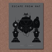 Image of &quot;Escape from Hat&quot; Letterpress Print