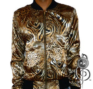 Image of Eye Of The Tiger Silk Jacket