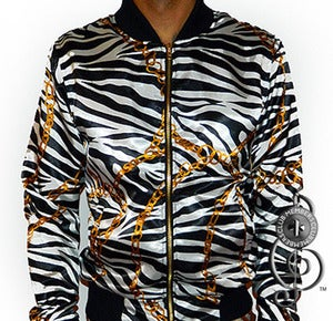Image of King Zebra Silk Jacket