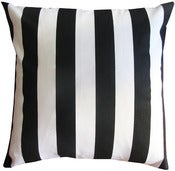 "Image of Black & White Stripe 16"" x 16"" Pillow"