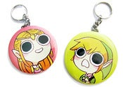 Image of Link and Zelda Keychains