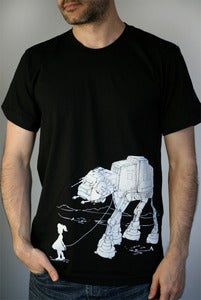 Image of My Star Wars ATAT Pet - Mens/Unisex T-Shirt on Black