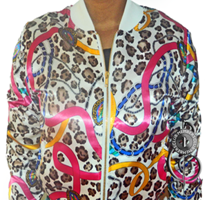 Image of Queen Cheetah Silk Cropped Jacket