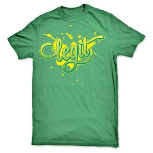 Image of legit Splatter Logo Graphic T-Shirt