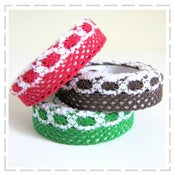 Image of Lacey Fabric Tape - Christmas colours