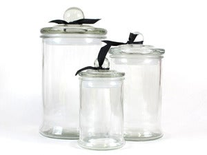 Image of French Glass Apothecary Jars