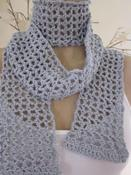 Image of Waffle Scarf in Ice Blue