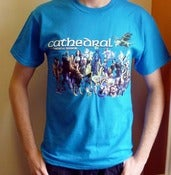 Image of CATHEDRAL - Ethereal Mirror BLUE T-Shirt