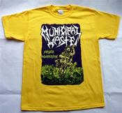 Image of MUNICIPAL WASTE - Massive Aggressive YELLOW T-Shirt