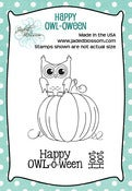 Image of Happy OWL-o-ween (2x3) ~ Peachy