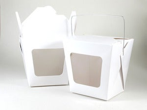 Image of White Window Noodle Box