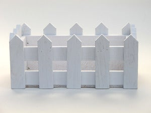 Image of Cute Wooden Picket Fence Box