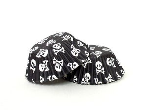 Image of Black & White Skull Cupcake Papers
