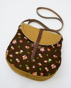 Image of -S O L D- the perfect crossbody (vintage chocolate brown floral)