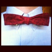 Image of Red Handmade Adjustable Bow-tie