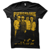 Image of Punchline<br>'So Nice To Eat You'<br>T-Shirt (Black w/ Orange)