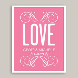 Image of Custom Wedding Print ♥ Series 2 ♥ (choice of 30 colours) - 20x25cm