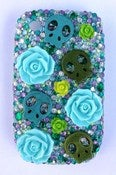 Image of Skull Roses Blackberry Curve Case