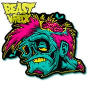 Image of POP-ZOMBIE diecut sticker!