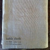 Image of Fog Linen Tablecloth  51&quot;x71&quot;