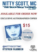 Image of Autographed Nitty Scott, MC - The Boombox Diaries Vol 1 EP
