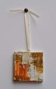 "Image of Original art by Melissa Payne Baker - 3""x3"" Itty Bitty Cross III"