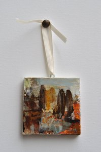 "Image of Original art by Melissa Payne Baker - 3""x3"" Itty Bitty Cyprus I"