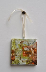 "Image of Original art by Melissa Payne Baker - 3""x3"" Itty Bitty Quatrefoil I"