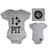 Image of PC I 'Steel' PIT Baby Onesie Grey