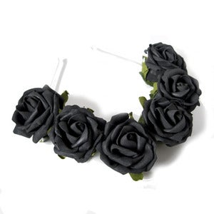 Image of Whole Lotta Rosie Headband - Black