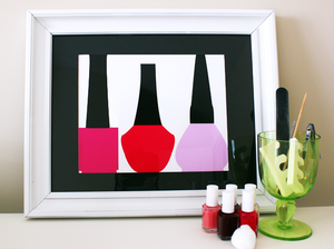 "Image of ""Vintage Nail Polish Bottles"" Art Print"