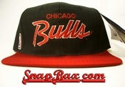 Image of Vintage Deadstock Chicago Bulls Sports Specialties Script Snapback 