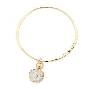 Image of Mini Personalised Gold Wax Seal Bangle