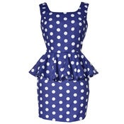 Image of Peplum Polka Dot Mini Dress