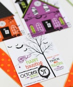 Image of Halloween Glam Haunted House printable invitation- 3 options