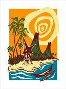 Image of &quot;OUTRIGGER ISLAND&quot; Serigraph
