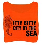 Image of Itty Bitty City By The Sea Crop Top - Neon Yellow