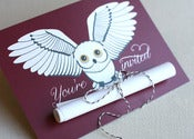 Image of Snowy Owl DIY Invitation (10)