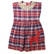 Image of Deer Plaid Dress