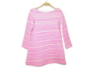 Image of Kids Dress Neon Pink Stripes