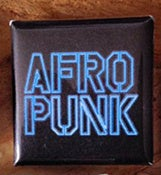 Image of Afropunk Pin Blue Neon