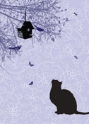 Image of Cat & Birdbox Print - Available in 2 sizes