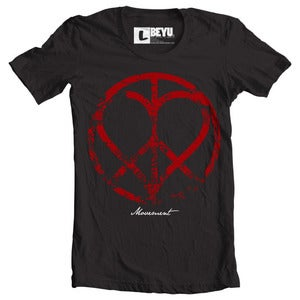 Image of Peace n Love Logo (black)
