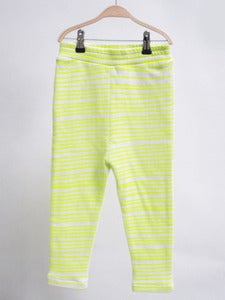 Image of Kids Pants Neon Yellow Stripes