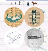 Image of marumaru little sticker series, no.01
