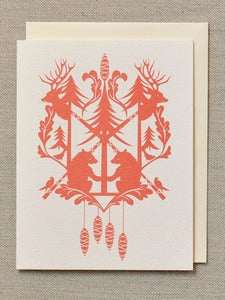 Image of Red Cuckoo Holiday Card