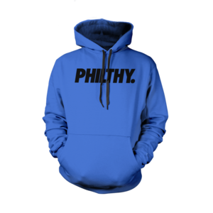 Image of PHILTHY. Hoodie (Blue/Black)  