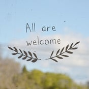All are welcome - sticker